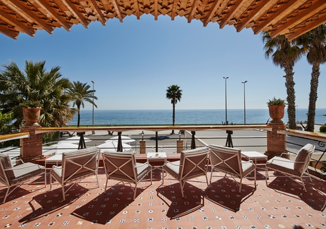 Sea view terrace Hotel Casa Vilella Sitges