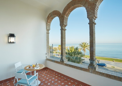 Central room terrace Hotel Casa Vilella Sitges